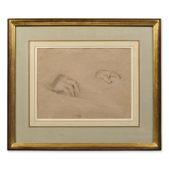 Recto: Study of Hands / Verso: Study of feet for Grace Before Meat (1839) Image 1