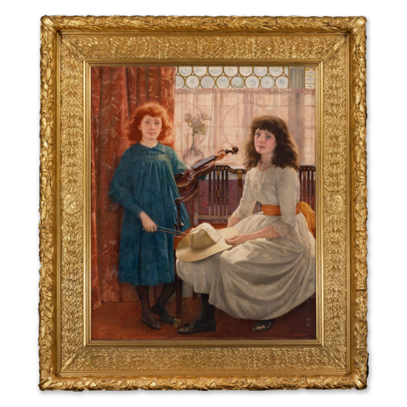 Bell and Dorothy, daughters of G.M.Freeman Esq. Image 1
