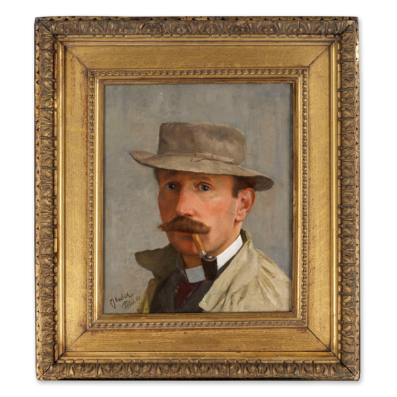 Portrait of a Man, possibly a Self-Portrait, possibly a portrait of the Irish artist Walter Osborne (1859-1903) Image 2