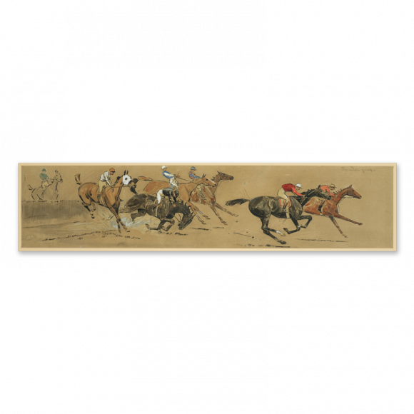 Steeplechasing & The Waterjump - a pair Image 1