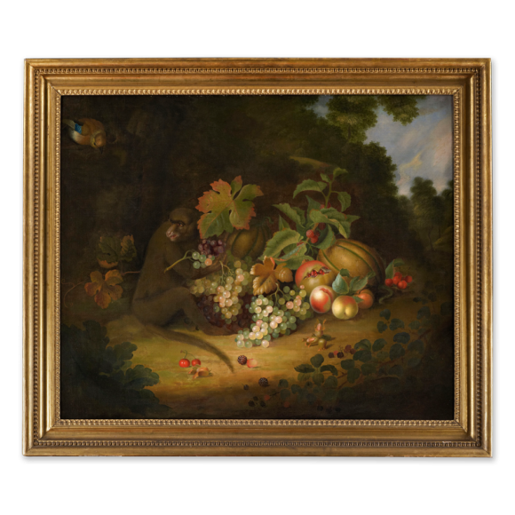 Still life of Fruit with a Monkey Image 2