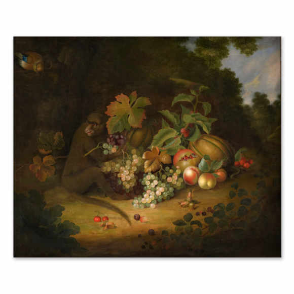 Still life of Fruit with a Monkey Image 1