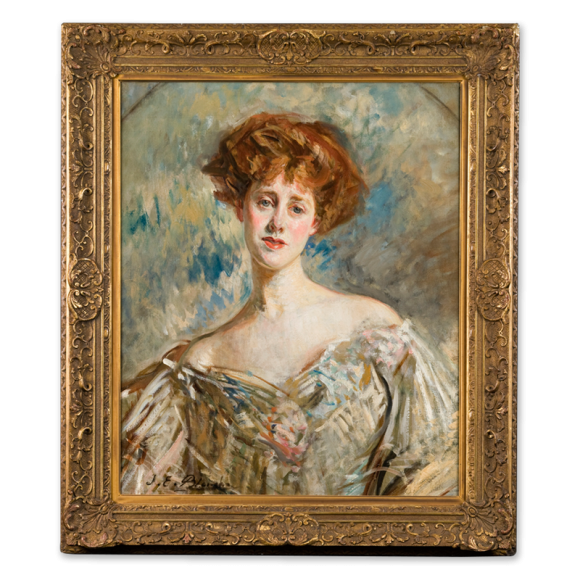 Portrait of a Young Lady with Red Hair Image 1