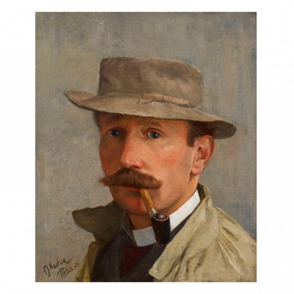 Portrait of a Man, possibly a Self-Portrait, possibly a portrait of the Irish artist Walter Osborne (1859-1903) Image 1