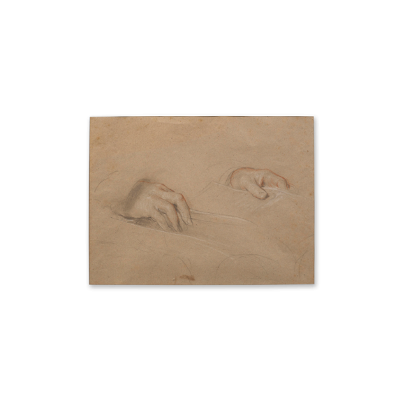 Recto: Study of Hands / Verso: Study of feet for Grace Before Meat (1839) Image 2