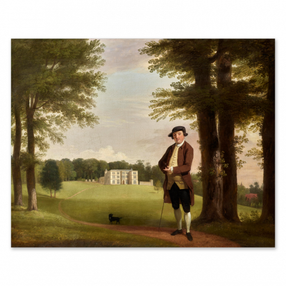 Powlett Wrighte (the Younger), standing before Englefield House Image 1